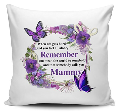 OneMtoss Pillow Covers Decorative That Somebody Calls You Mammy Floral Novelty Cushion Cover Canvas Pillow Case 24X24 Inches -