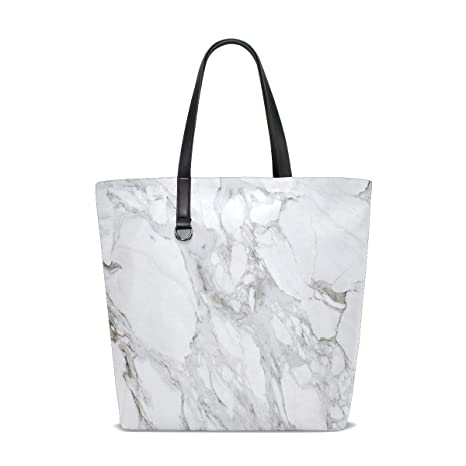 Amazon.com   Marble Grey Tote Bag Purse Handbag Womens Gym ...
