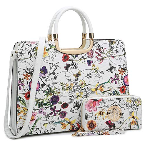 Women's Handbag Top Handle Shoulder Bag Tote Satchel Purse Work Bag with Matching Wallet