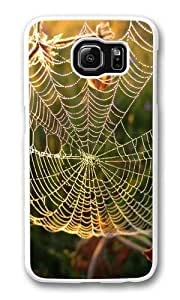 Dew on spider web Custom Samsung Galaxy S6/Samsung S6 Case Cover Polycarbonate White