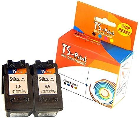 TS-Print Cartuchos de Tinta 2X PG-540XL Negro Canon Impresora ...