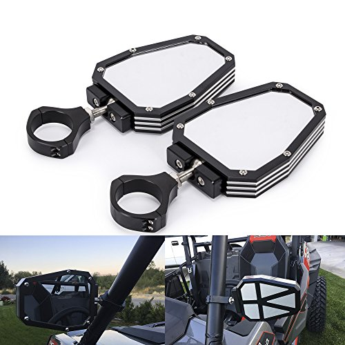 Aluminium Alloy 1.75 inch UTV Offroad Side View Mirror for RZR Mirror Break Away with Ball Universal Joint for Polairs RZR 1000 ()