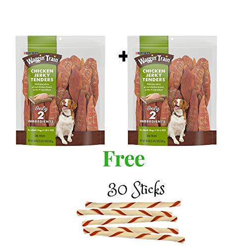 Waggin' Train Jerky Dog Treats (Chicken Tender, 30 oz -2 Pack)