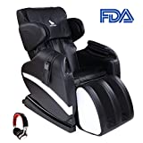 Cheap Mecor Full Body Massage Chair, Zero Gravity Shiatsu Heated Massager Recliner, with Stretched Foot Rest, Airbag/Rolling Massage System,Music Function,Black