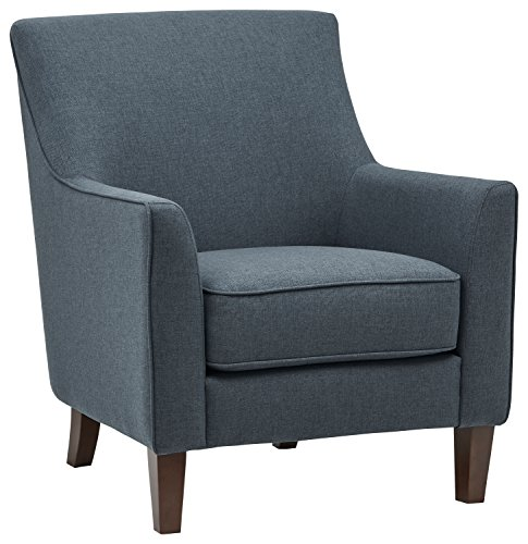 Stone & Beam Cheyanne Modern Living Room Accent Arm Chair, 30.7″W, Denim