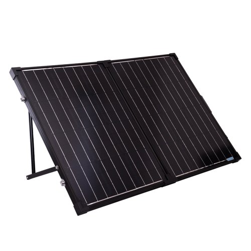 Renogy 100 Watts 12 Volts Monocrystalline Foldable Solar Suitcase for dispersed camping, remote camping, boondocking