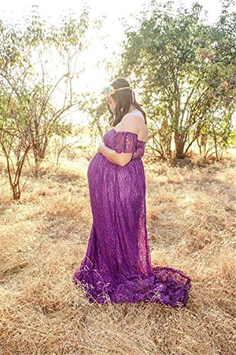 Jupes pour Maternit Enceintes pour Up Robe Plage Violet Femme Enceinte Photo Shoot Photographie Maxi Robe Jupe Bikini Cover Longue Sexy F6AYq8