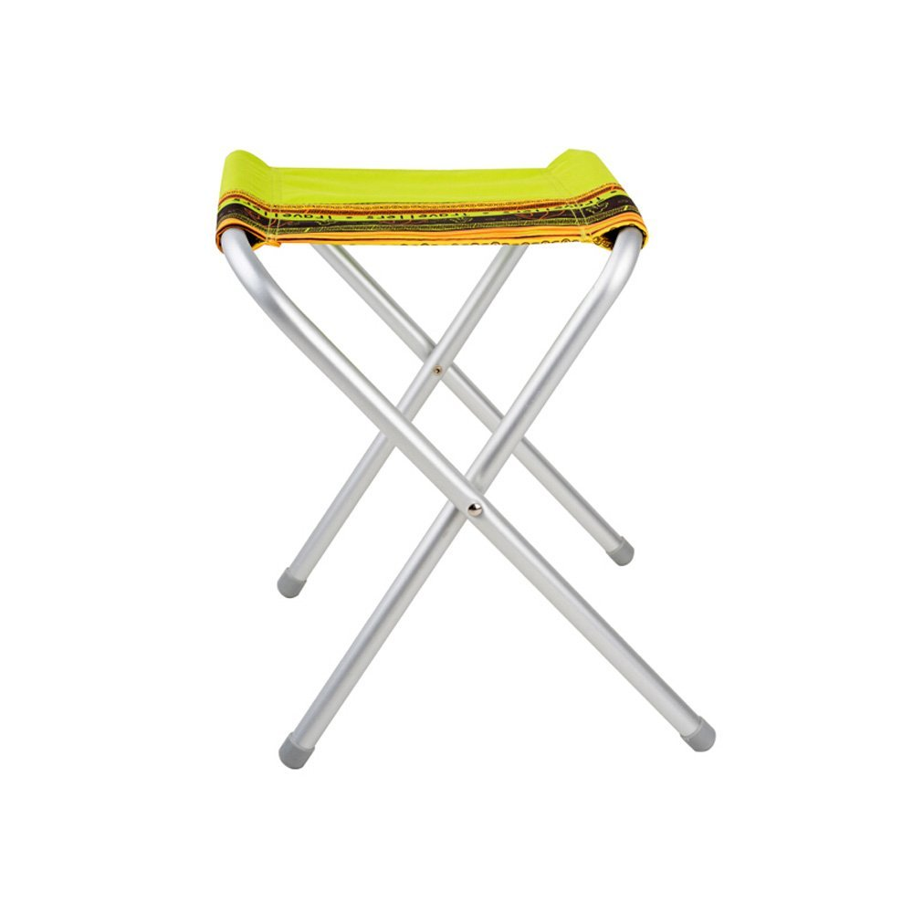 AIDELAI Bar Stool Chair- Outdoor Self-Driving Leisure Family Camping Easy Storage Aluminum Folding Stool (30 34.5 42cm) Saddle Seat (Color : A)