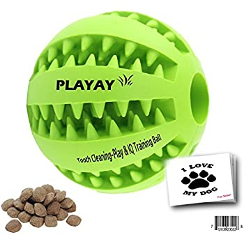 Amazon.com : IQ Treat Ball [Chew Toy] for Dogs & Cats