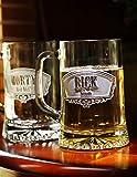 Groomsmen Beer Mugs, Best Man Gifts - Set of 2