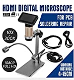 Superland HDMI Digital Microscope Long Working Distance PCB Soldering Repair SMT USB 2.0 Handheld with Two LED Light (HDMI Microscope)