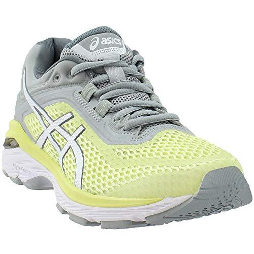 ASICS Women's GT-2000 6 Running Shoe, Limelight/White/Mid Grey, 6.5 M US