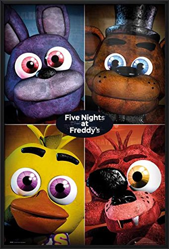 5 Nights At Freddy's - Framed Gaming Poster / Print