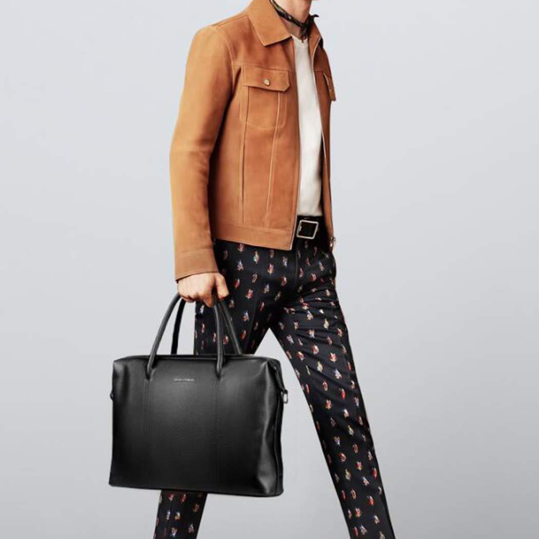 Herraxelväska män Casual Messenger Bag läder män handväska stor kapacitet lekrum väska läder-affärsväska för män portfölj, svart BRUN