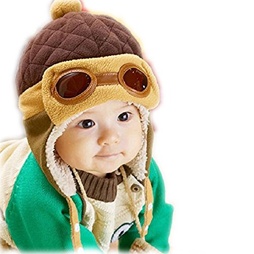 [Baby Girls Boys Winter Pilot Hat Infant Toddler Kid Scarf Earflap Hood Scarves Warm Skull Beanie Caps 1-4 years old.] (Girls Pilot Costumes)