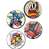 """Licenses Products Marvel Comics Assorted Artworks 1.25"""" Button Set, 4-Piece"""