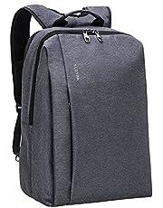 Slotra Laptop Backpack Business 15.6 Zoll Reisen Outdoor Schulerucksack Mordern Rucksack Für Büro Unisex Schwarz Studenten Arbeits Laptopfach Outdoor