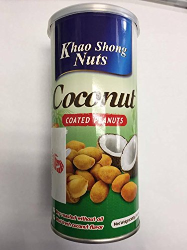 Khao Shong Nuts Coconut Coated Peanuts - net weight 300 g (10.6 oz) by Khao Shong Nuts