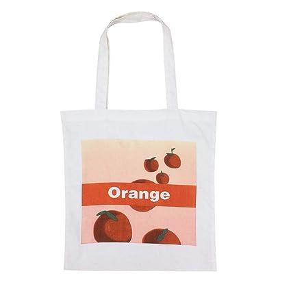 Amazon.com | De lona de las mujeres bolsas naranja tela ...