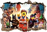 LEGO MOVIE Smashed Wall 3D Decal Removable Graphic Wall Sticker Mural Kids H152, Large