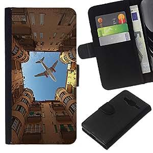 All Phone Most Case / Oferta Especial Cáscara Funda de cuero Monedero Cubierta de proteccion Caso / Wallet Case for Samsung Galaxy Core Prime // City Sky Building Rome Metaphor