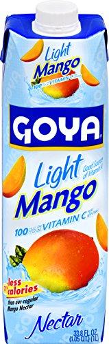 Goya Foods Light Mango Nectar, 33.79 Fluid Ounce (Pack of - Latin Nectar In