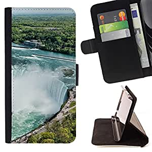 King Air - Premium PU Leather Wallet Case with Card Slots, Cash Compartment and Detachable Wrist Strap FOR Samsung Galaxy G360 G3608 G3606- River