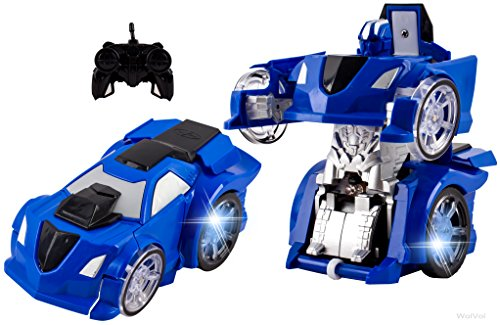 WolVol 4 Channel Remote Control Transformers Robot Car Toy with Lights (Transformers For Cars compare prices)