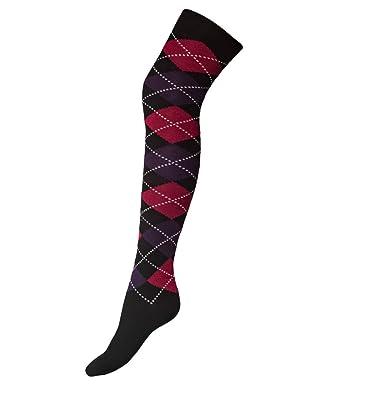 a01e4e0a4 Bonjour Mens Knee High Long Socks Argyle Extra Fine Combed Cotton (6 ...