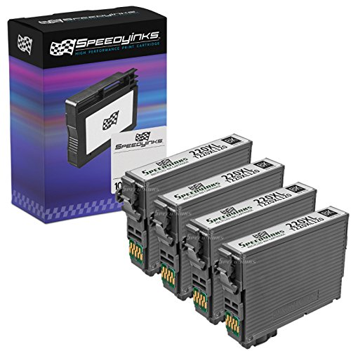 Speedy Inks Remanufactured Ink Cartridge Replacement for Epson 220XL High Capacity (Black, 4-Pack)