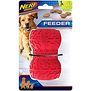 Amazon.com : Nerf Dog 4in Tire Treat Feeder: Red, Dog Toy