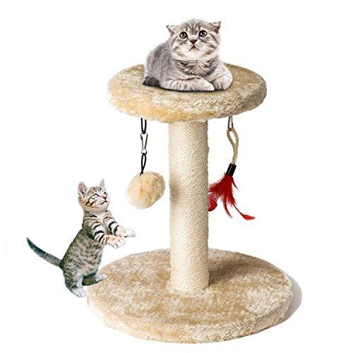 Cat Tree Tower, Zubita Cat Climber Shelf Pet Kitty Furniture