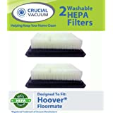 2 Washable & Reusable HEPA Filters for Hoover Floormate Vacuums; Compare to Hoover Part Nos. 40112050, 59177051; Designed & Engineered by Think Crucial