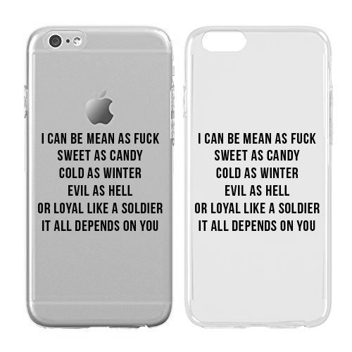 Case for iPhone 6 Plus/6S Plus  Cream Cookies  Ultra Slim Hard Plastic Cover Case  I Can Be Mean As Fuck  Quotes  Fun Quotes  Fun  Funny  Sassy  Sassy Quotes