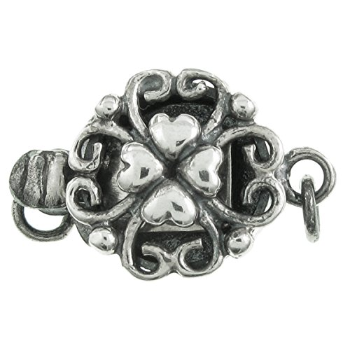 Silver Heart Clasp - 8