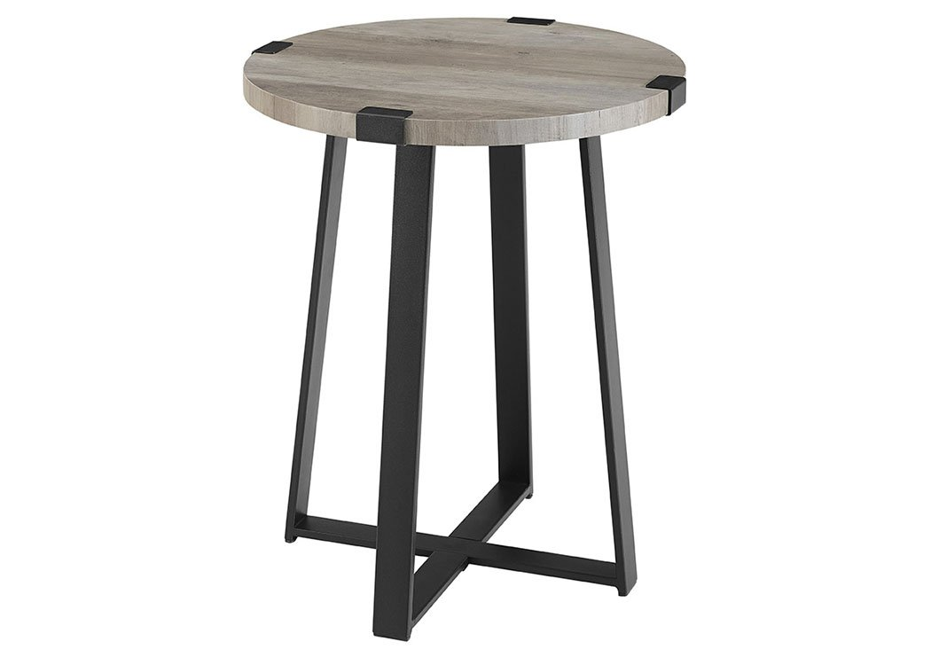 WE Furniture AZF18MWSTGW Side Table, Grey Wash by WE Furniture (Image #2)