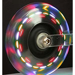 Light Up Scooter Replacement Wheel - 3 Color LED's 100mm (Pack of 2)