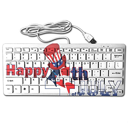 Zhongraninc Compact Full Keyboard Usa Independence Day 4Th Of July Uncle Sam Ultra Thin Fashion Design Keyboard Computer Keyboard