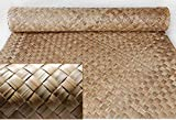 Lauhala Weave Matting Roll Commercial Grade-Tiki Bar Tropical Wall covering,4' x 8' Single Roll