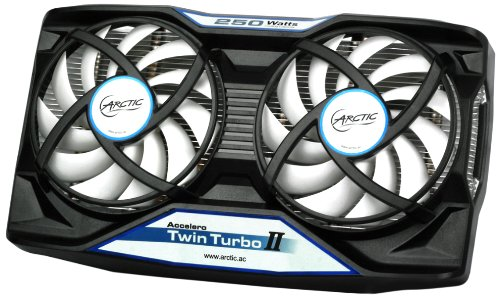 ARCTIC Accelero Twin Turbo II VGA Cooler - nVidia & AMD, Dual Quiet 92mm PWM Fans, SLI/CrossFire (Dual Video Cards Sli)