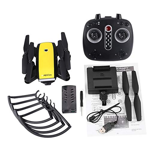 8Eninine X28 Foldable RC Quadcopter with Adjustable WiFi Camera Real-time Altitude Hold Gelb