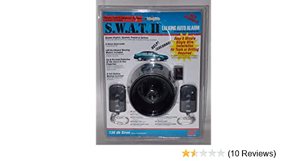 Amazon.com: SWAT 2 130dB Talking Car Alarm w/ 2 Remotes Easy Install 4 Language: Car Electronics