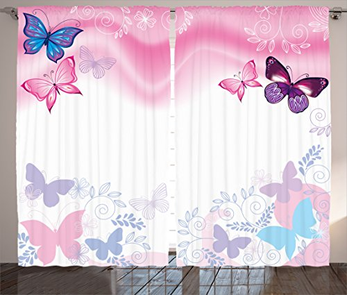 Ambesonne Teen Girls Decor Collection, Flowers and
