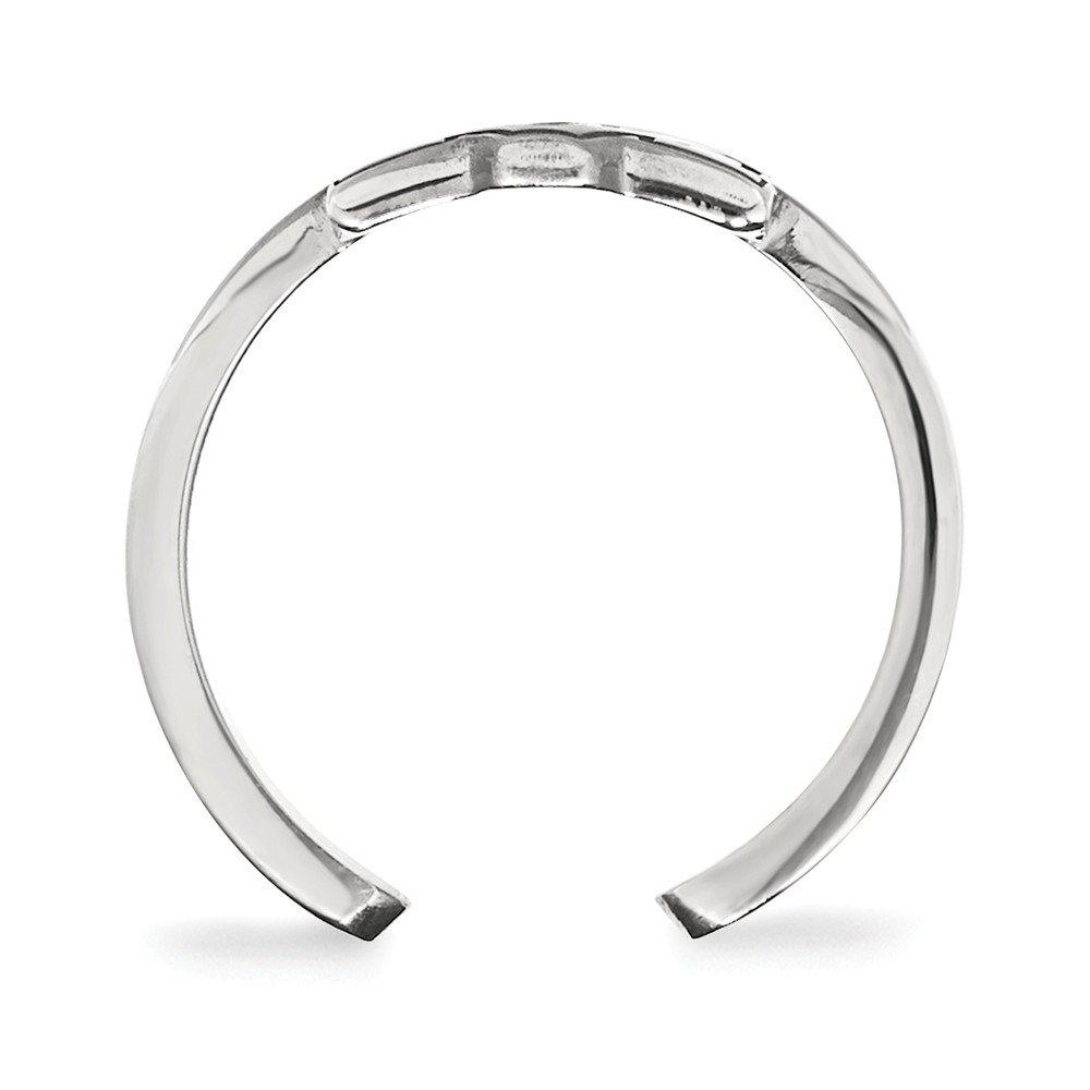 Collegiate Auburn University Sterling Silver LogoArt Auburn University Toe Ring