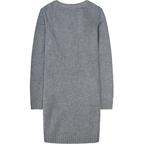 2LUV Women's Crochet Knitted Crewneck Casual Pullovers Sweater Tunic