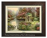 Thomas Kinkade The Garden of Prayer 12'' x 16'' Canvas Classic (Espresso)