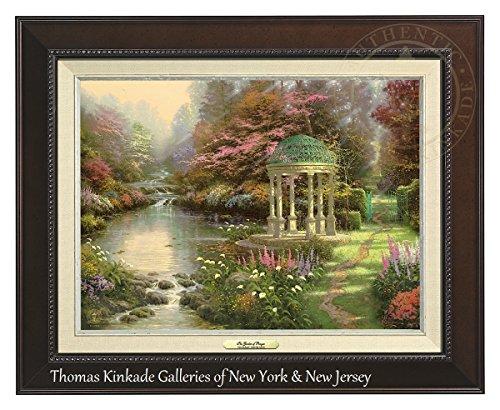 Thomas Kinkade The Garden of Prayer 12'' x 16'' Canvas Classic (Espresso) by Thomas Kinkade