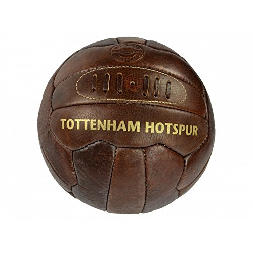 fan products of Tottenham Hotspur FC Official Retro Heritage Leather Soccer Ball (5) (Brown)