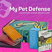 My Pet Defense Monthly Subscription Box - Dog Dental Care, Flea and Tick Prevention for Dogs, Grain Free Dog S