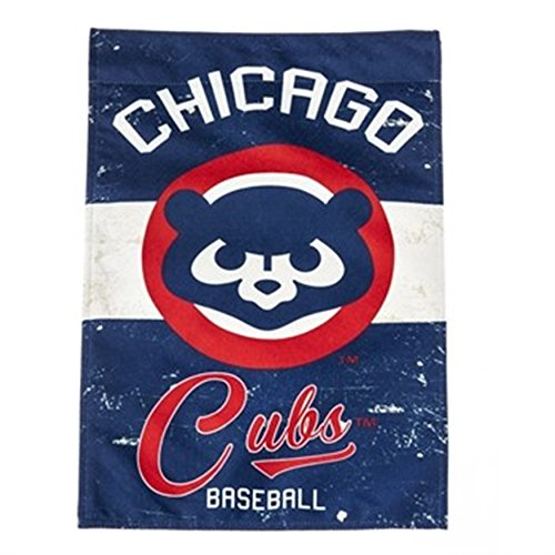 Yard Cubs Chicago - Rico Industries, Inc. Chicago Cubs EG Vintage GARDEN Flag Premium 2-sided Retro Banner Baseball